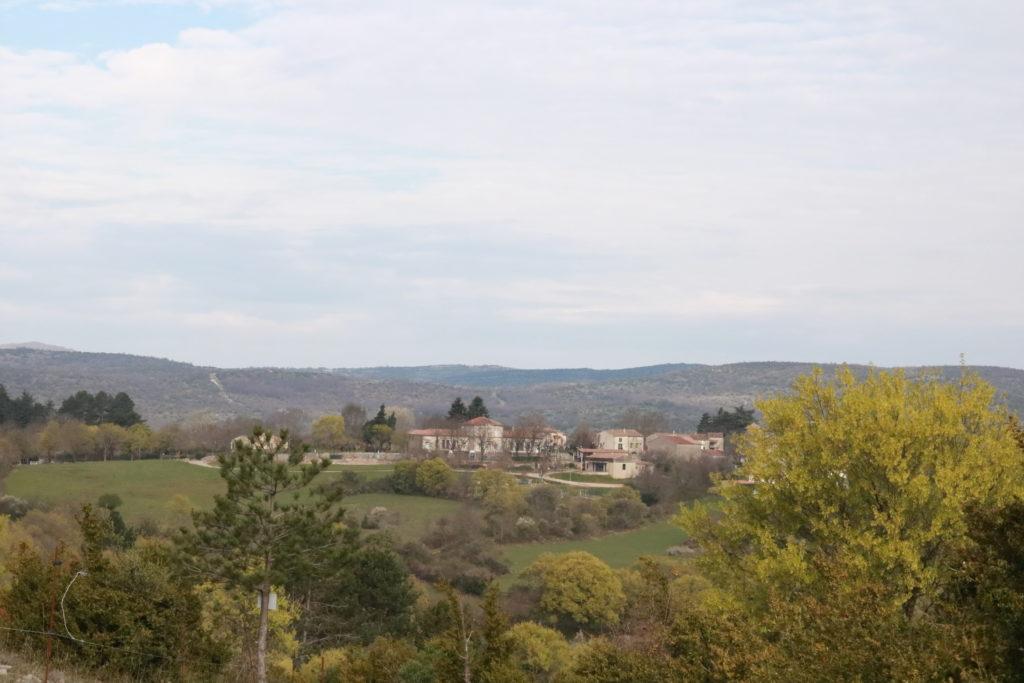 Vue sur le village sde Saint-Maurice Navacelles 34520