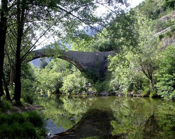 l'ancien pont à Navacelles